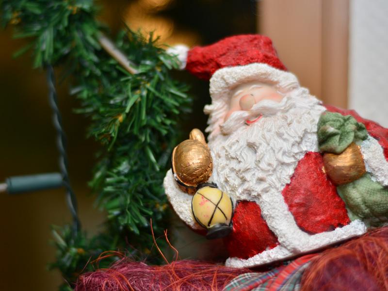 Auch der Nikolaus fühlt sich wohl im Haus Schmitz